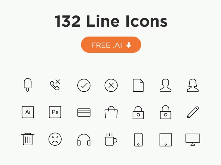 132 Free Vector Line Icons