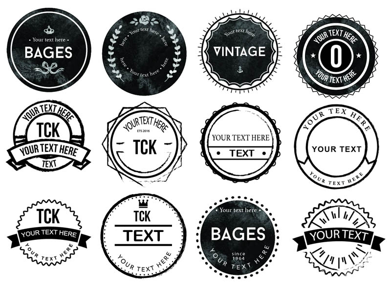 20 Free Rounded Rough Badges