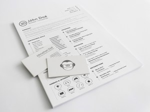 A4 Resume Sketch Template
