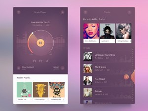 Free Android Music Player UI