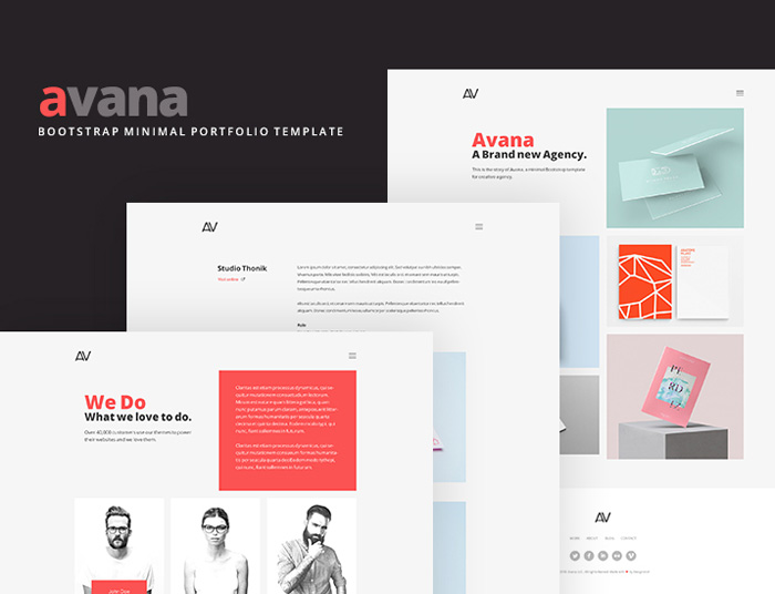 Avana: Free Simple Portfolio BootstrapTemplate