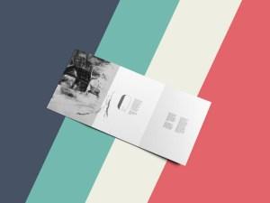 Free Clean Tri-Fold Brochure Mockup