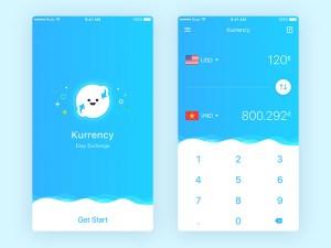 Currency Mobile App UI Design