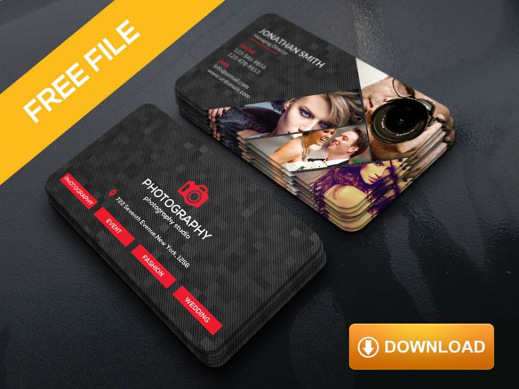 Dark photography business card template free download freebiesjedi dark photography business card template cheaphphosting