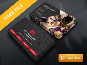 Dark photography business card template free download freebiesjedi fbccfo Image collections