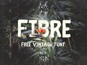 Fibre Free Retro Font