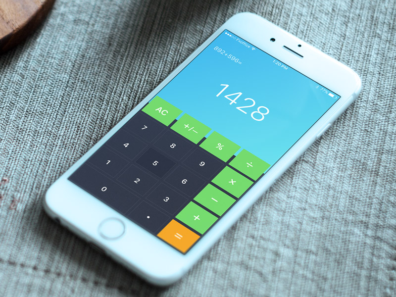 Flat Calculator UI Design