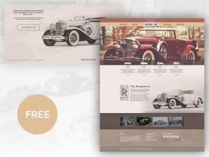 Free Classic Car PSD Template