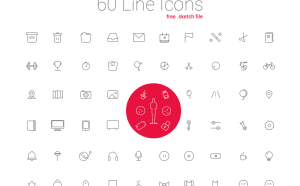 60 Free LIne Sketch Icon