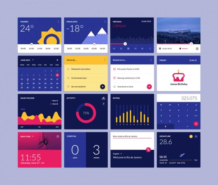 free material design widgets ui kit