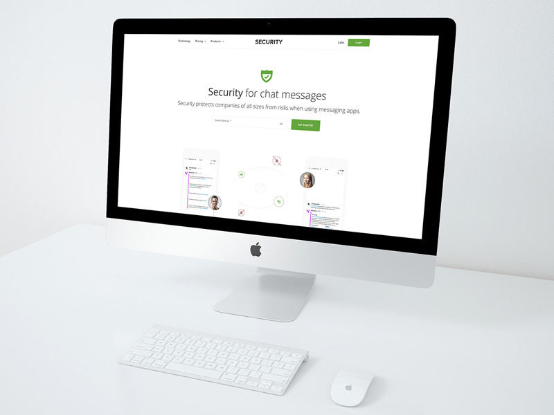 Free Security PSD Website Template