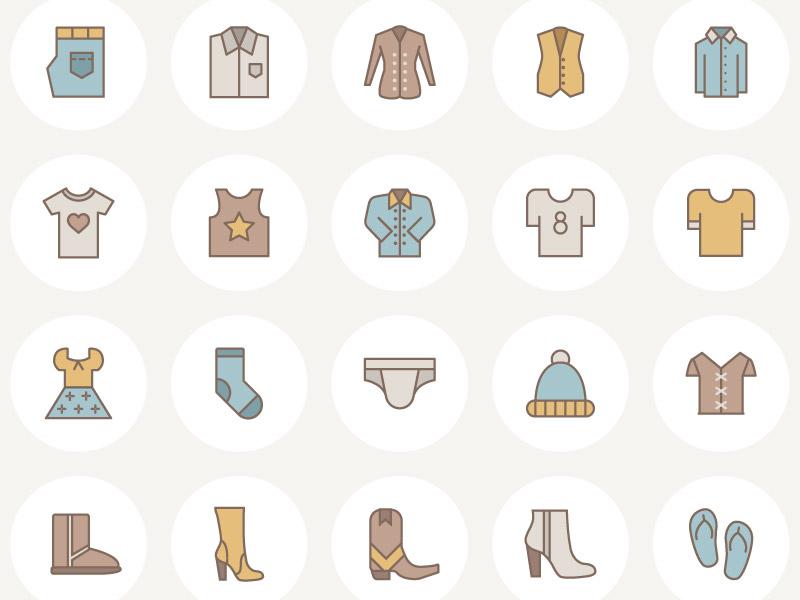 Free Vector Fashion Icon Set