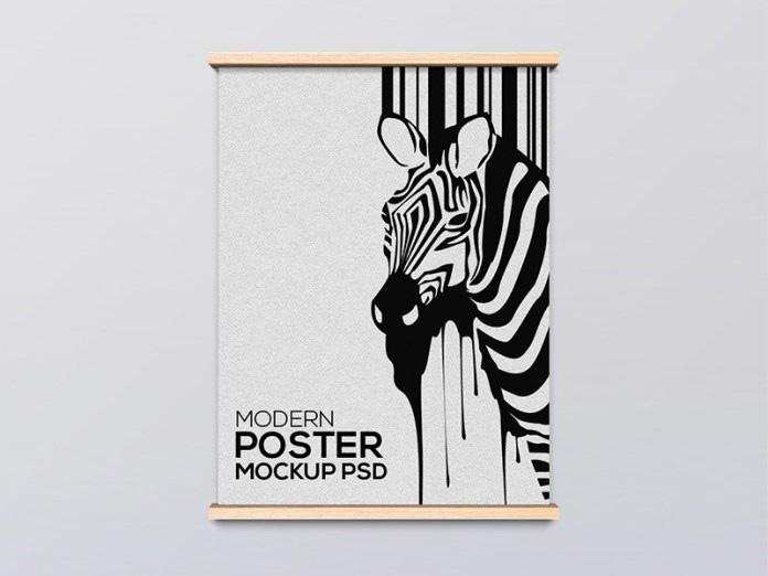 Modern Wooden Poster Frame Mockup - Free Download | Freebiesjedi
