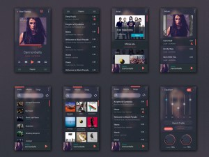 Free Music Player UI Kit PSD