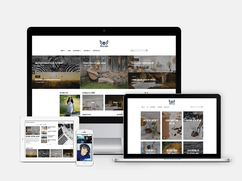 Nickel – Free Responsive Magazine WordPress Theme