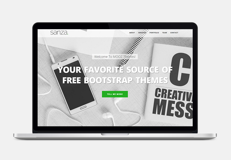 Sanza : One Page Bootstrap HTML Template