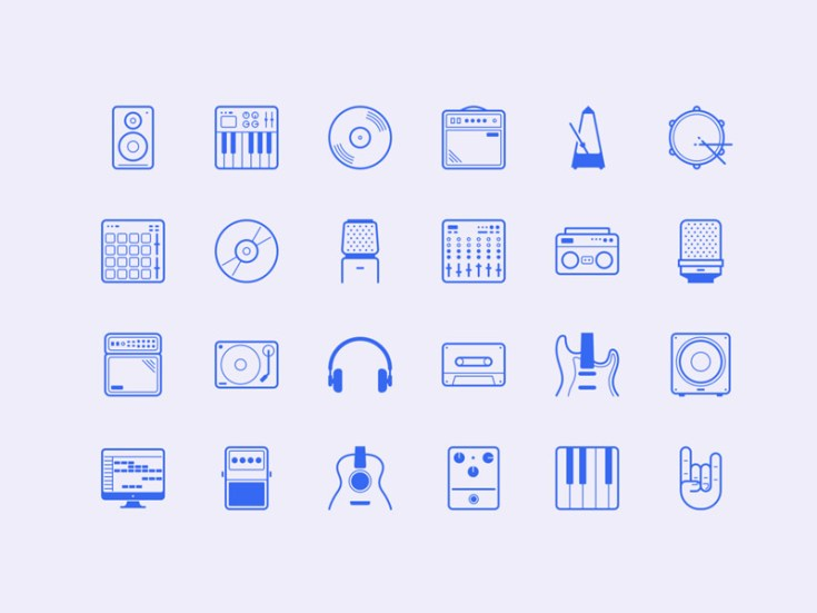 Studio : Free Music Icon Set