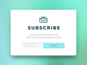 Subscribe Form Widget PSD