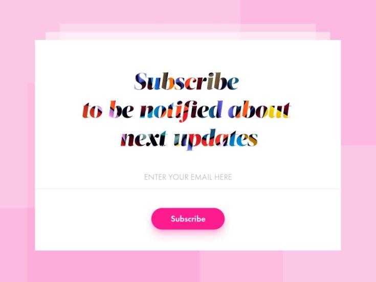 Free Subscribe Widget PSD