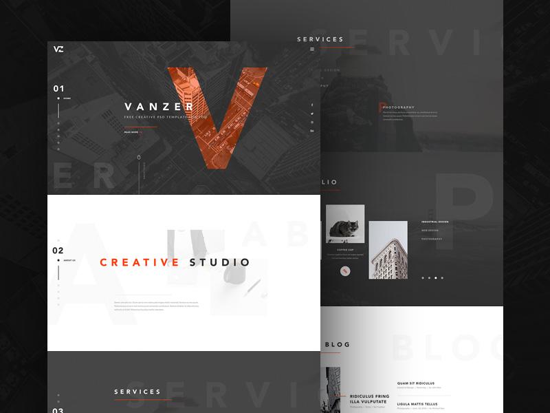 Vanzer : Free Elegant Portfolio Website