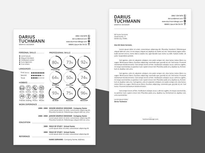 Minimal Resume Template (AI + PSD)