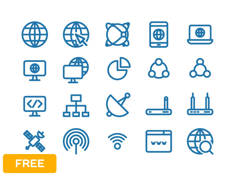 Free Internet Icons (Illustrator)