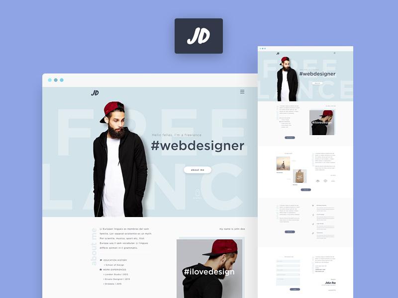 JD Personal Portfolio PSD template