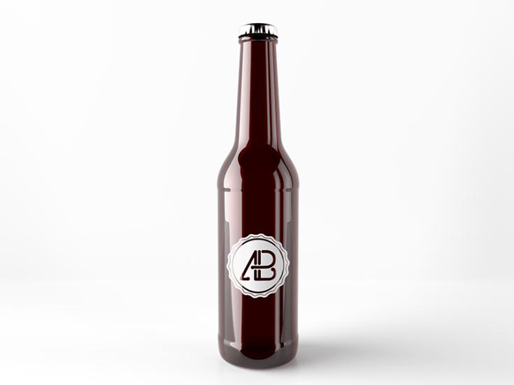 Free Beer Bottle Mockup PSD