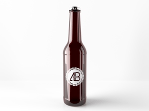 Free Beer Bottle Mockup PSD