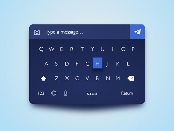 Dark Keyboard UI Design