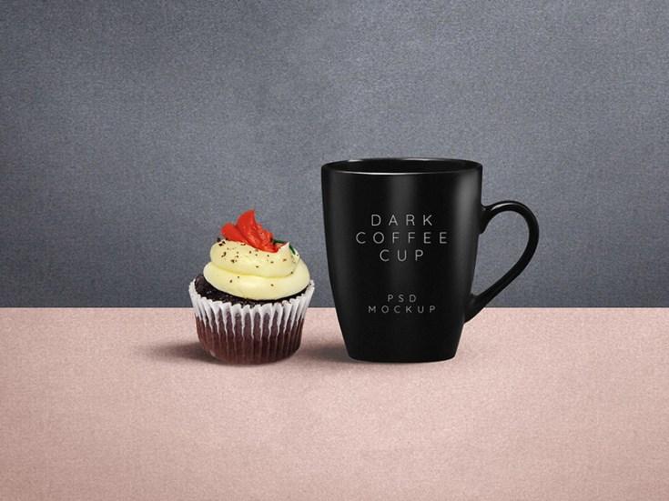 Dark Mug Mockup PSD