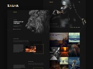 Dark Portfolio PSD Web Template