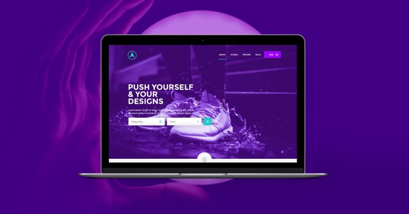 Eclipse Purple Website Template