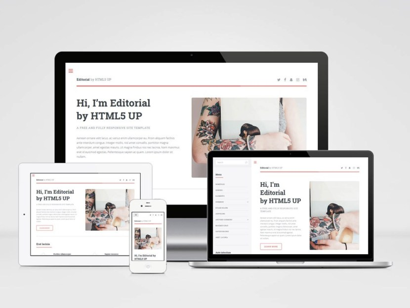 Editorial : Free Personal HTML5 Template