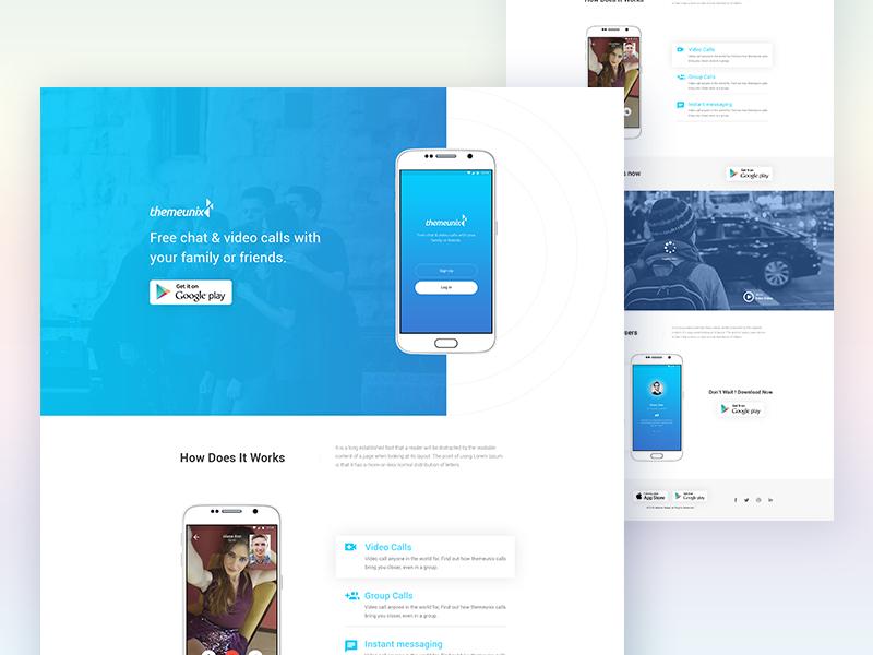 Exos : App Landing Page PSD Template