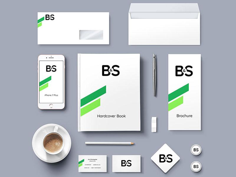 Free Clean Branding & Stationery Mockup
