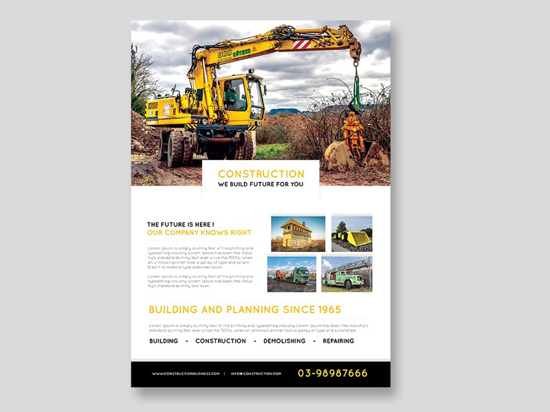 Free Construction Flyer Template