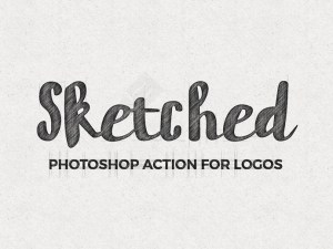 Free Sketched Logo Photoshop Action