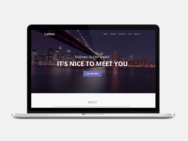 Lattes : One Page Bootstrap HTML Template