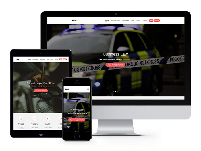 Free Law HTML Template