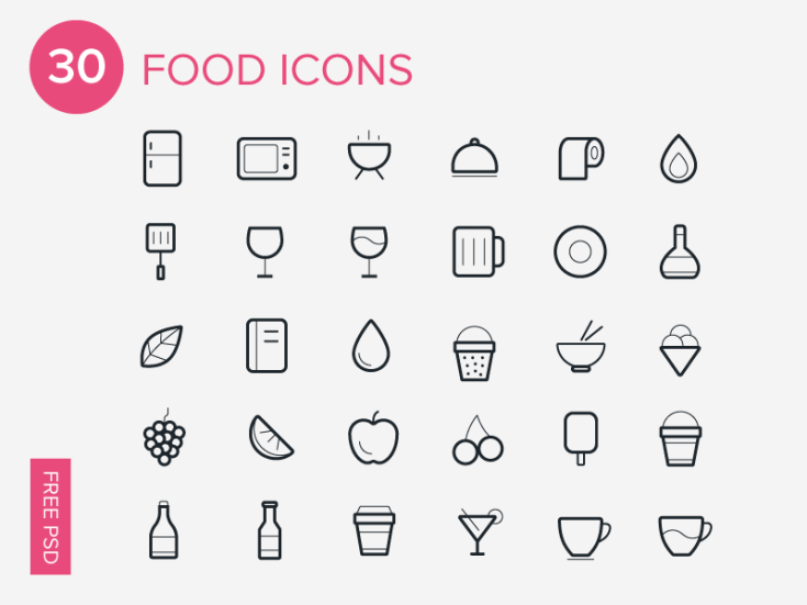 Line Food Icon