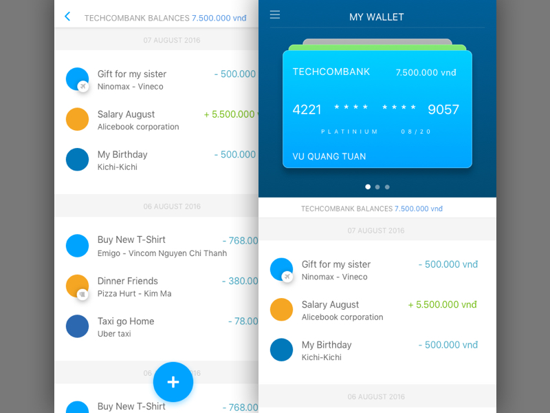 My Wallet App UI Design