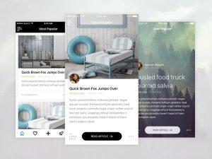 News Reader App Screen UI SKetch