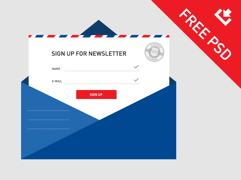Newsletter Sign Up PSD Template