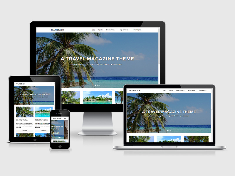 Palm Beach : Free Travel WordPress Theme