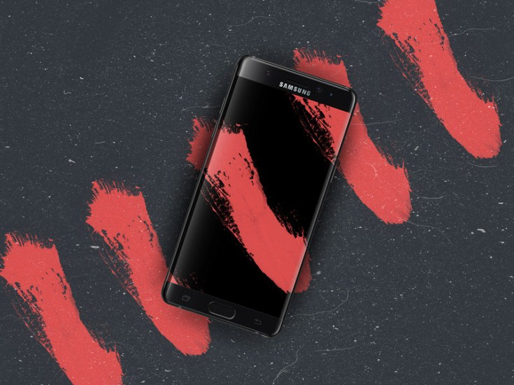 Black Onyx Samsung Note 7 Edge Mockup