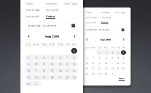 Simple Datepicker UI Sketch