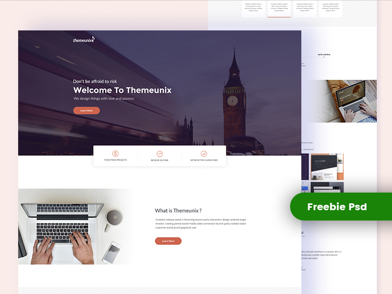 Themeunix : Landing Page Template for Agency