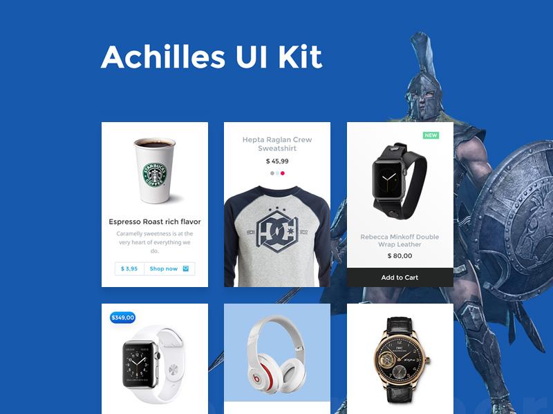 Achilles UI Kit PSD