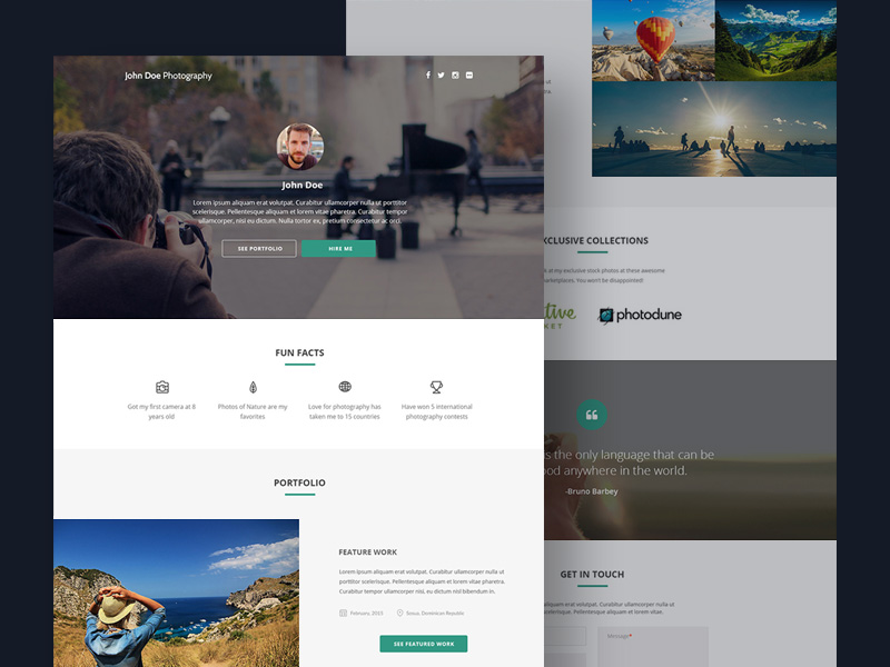 Grapher : Free PSD Photography Template